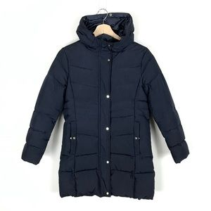 Zara Girls Hooded Down Puffer Jacket - 11/12